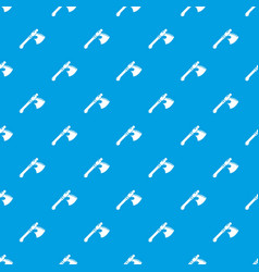 ancient ax weapon pattern seamless blue vector image