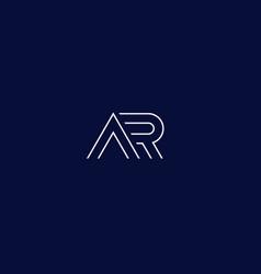 Ar logo in linear style vector