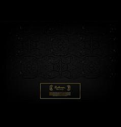 arabesque dark abstract element gold background vector image