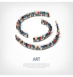 Art people sign 3d vector