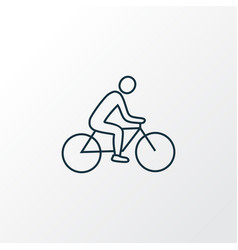 biking icon line symbol premium quality isolated vector image