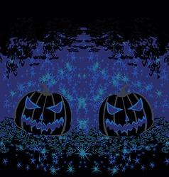 Broken halloween pumpkin on grunge background vector