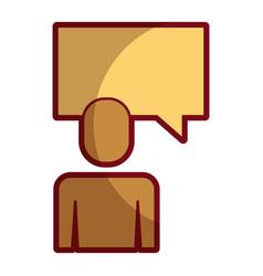 businessman and speak bubble talk message vector image