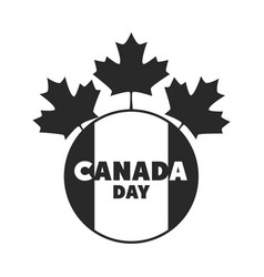 canada day canadian flag and maple leaves badge vector image