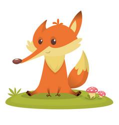 Cartoon fox icon vector