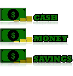 Cash icons vector image