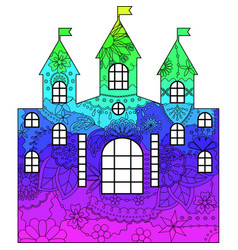 Castle with transition colors vector