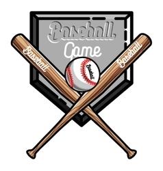 Color vintage baseball emblem vector image