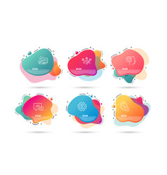 Comment correct answer and romantic talk icons vector