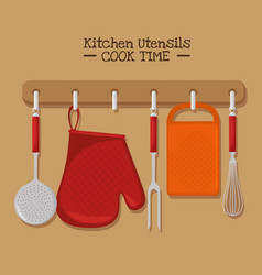 Cooking time concept vector