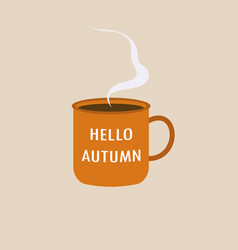 cup with autumn inscription vector image
