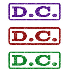 Dc watermark stamp vector