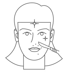 Dermaplaning procedure icon vector