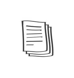 Documents pile icon doodle line art or vector