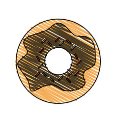 Donut pastry icon image vector