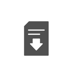Download document simple icon file sign vector