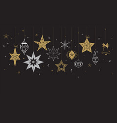 elegant merry christmas background banner vector image