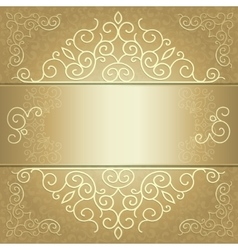 Golden background card invitation or menu vector
