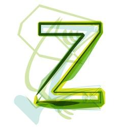 Green letter Z vector image