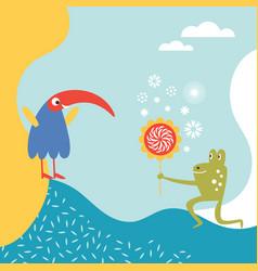 greeting card design happy birthday vector image