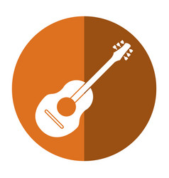 Guitar traditional acoustic music shadow vector