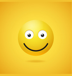 happy smiling emoticon with opened eyes vector image