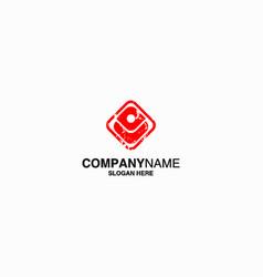 human icon logo template eps 10 vector image