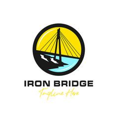 iron bridge building inspiration logo vector image