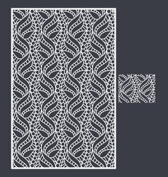 Laser cut panel and the seamless pattern vector