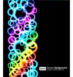 light rings vector image