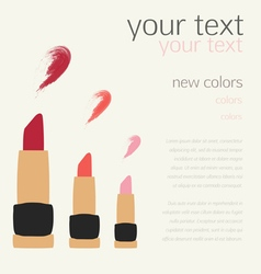 Lipstick Swatches Flat Templates Design vector image