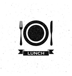 Lunchtime label design vector
