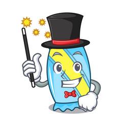 Magician candy mascot cartoon style vector