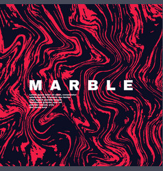 marble texture background deep pink red and fluid vector image