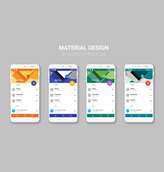 Material UI screens mockup kit vector image vector image