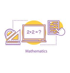 Mathematics concept icon vector