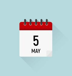 may 5 cinco de mayo day calendar icon vector image