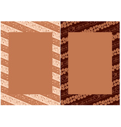 Menu backgrounds with coffee beans and cups vector