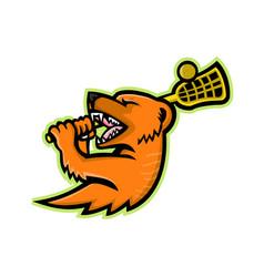 Mongoose lacrosse mascot vector