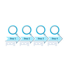 One colored circles steps infographic template vector