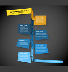 paper timeline template vector image