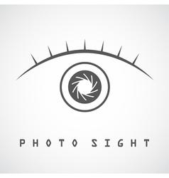 Photo eye vector image