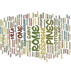 Pines rome text background word cloud vector