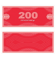 Play money two hundred vector