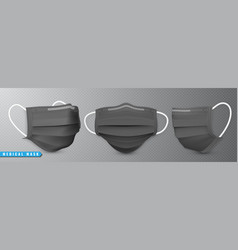 realistic medical face mask details 3d medical vector image