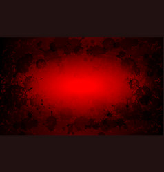 Red textural background with silhouette set of vector