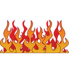 Retro flame vector