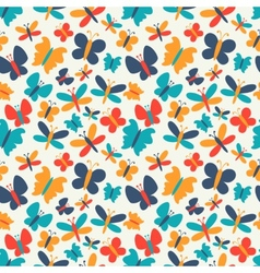 Retro seamless pattern of colorful vector