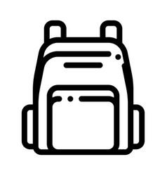 Rucksack icon outline vector