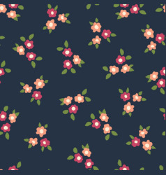 scattered ditsy flowers seamless pattern vector image